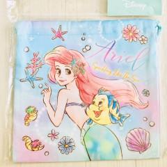 Japan Disney Drawstring Bag - Little Mermaid Ariel in the Sea
