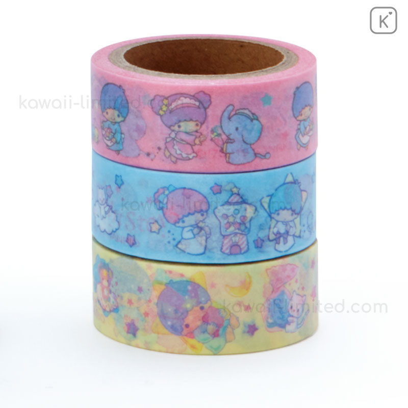 Sanrio Little Twin Stars Masking Tape With Container    ==