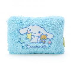 Japan Sanrio Cinnamoroll Fluffy Pouch (M) Sky Blue