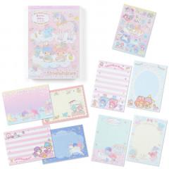 Japan Sanrio A6 Notepad - Little Twin Stars & Unicorn