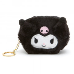Japan Sanrio Fluffy Mini Pouch (S) - Kuromi