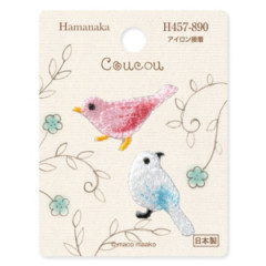 Japan Hamanaka Embroidery Iron-on Applique Patch - Birds