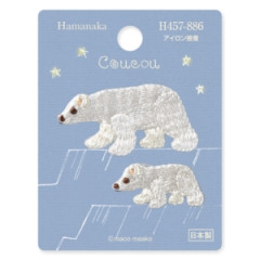 Japan Hamanaka Embroidery Iron-on Applique Patch - Polar Bears