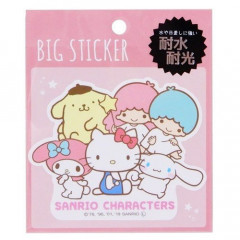 Japan Sanrio Big Sticker - Characters
