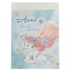 Japan Disney B8 Mini Notepad - Little Mermaid Ariel Watercolor