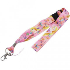 Japan Disney Neck Strap - Rapunzel Pink