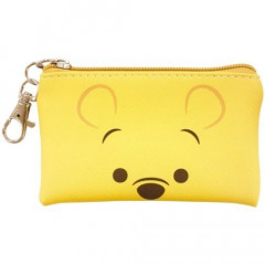 Japan Disney Zipper Makeup Pouch (S) Winnie the Pooh Face