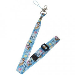 Japan Disney Neck Strap - Chip & Dale Blue