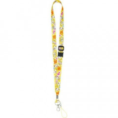 Japan Disney Neck Strap - Chip & Dale Yellow