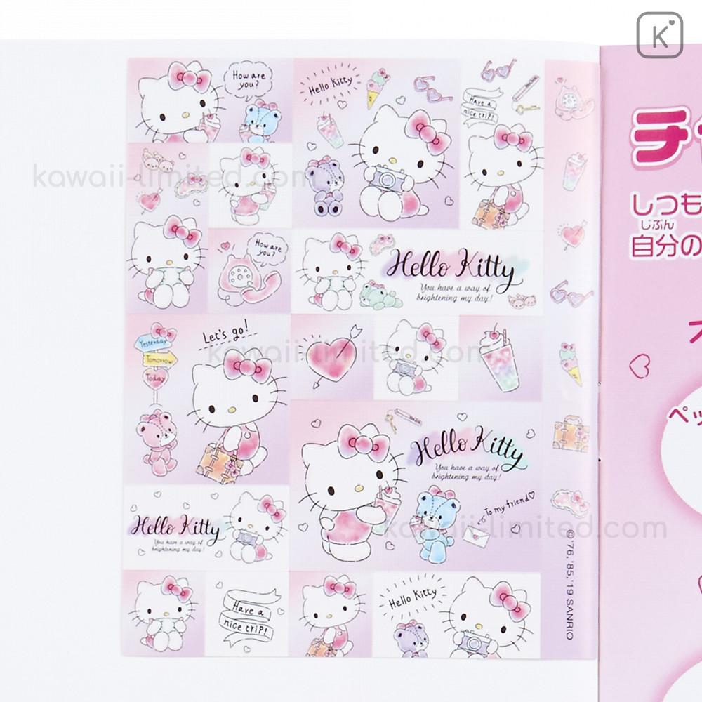 Love Cute Sanrio Character Hello Kitty Masking tape Line Sticker 4 sheets JAPAN