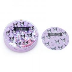 Japan Sanrio Memo Pad with Glitter Case - Kuromi