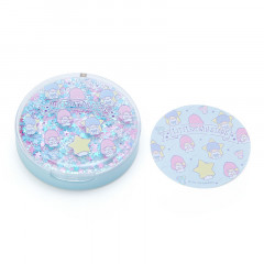 Japan Sanrio Memo Pad with Glitter Case - Little Twin Stars