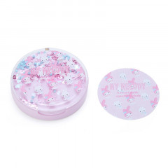 Japan Sanrio Memo Pad with Glitter Case - My Melody