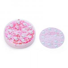Japan Sanrio Memo Pad with Glitter Case - Hello Kitty