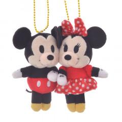 Japan Disney Plush Keychain - Mickey & Minnie