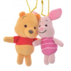 Japan Disney Plush Keychain - Winnie the Pooh & Piglet
