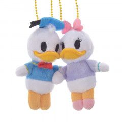 Japan Disney Plush Keychain - Donald & Daisy