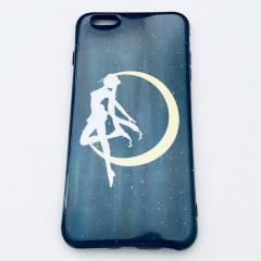 Sailor Moon Prism Power Make Up Shadow Black Holographic Phone Case