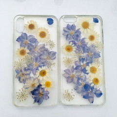 Pressed Flower Chrysanthemum Elegant Purple Phone Case