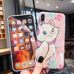 Pink Marie Cat Holographic Phone Case