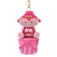 Japan Disney Plush Keychain - Cheshire Cat & Secret Box