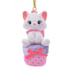 Japan Disney Plush Keychain - Marie Cat & Secret Box