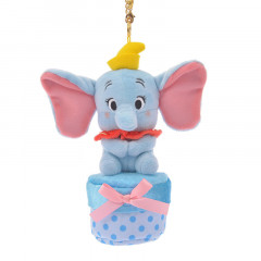 Japan Disney Plush Keychain - Dumbo & Secret Box