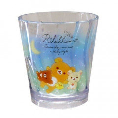 Japan San-X Rilakkuma Acrylic Cup Clear Airy - Star Night