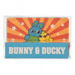 Japan Disney Memo Pad with Cassette Tape - Toy Story 4 Bunny & Ducky