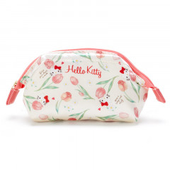 Japan Sanrio Cosmetic Makeup Pouch - Hello Kitty Flower