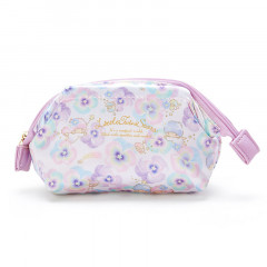 Japan Sanrio Cosmetic Makeup Pouch - Little Twin Stars Flower