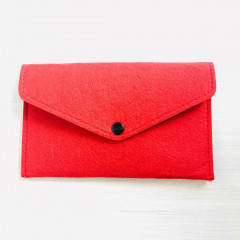 Needle Felting Pouch - Red