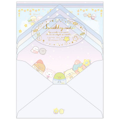 Japan Sumikko Gurashi Letter Envelope Set - Star Night
