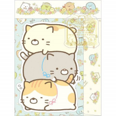 Japan Sumikko Gurashi Letter Envelope Set - Cats