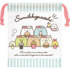 Japan Sumikko Gurashi Drawstring Bag - Burger