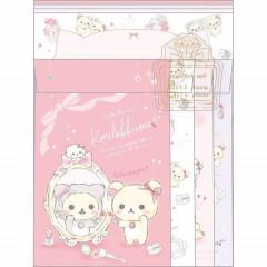 Japan Rilakkuma Letter Envelope Set - Korilakkuma & Mirror