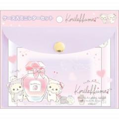 Japan Rilakkuma Mini Letter Set with Case - Korilakkuma