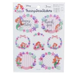 Japan Disney Sticker - Princess Little Mermaid Ariel & Flora