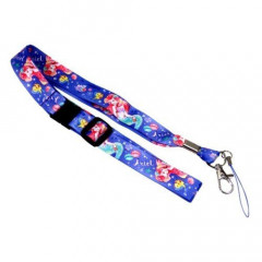 Japan Disney Neck Strap - Little Mermaid Ariel Purple Blue