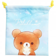 Japan Rilakkuma Drawstring Bag - Korilakkuma & Chairoikoguma Star Night