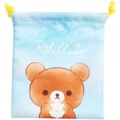 Japan San-X Drawstring Bag - Rilakkuma / Star Night