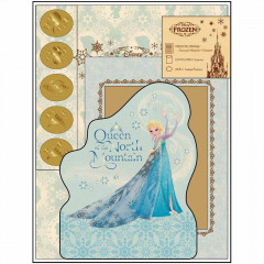 Japan Disney Frozen Letter Set - Light Blue