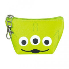 Japan Disney Coin Purse Mini Pouch - Toy Story Alien Little Green Men Faces