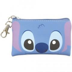 Japan Disney Flat Mini Pouch - Stitch Faces