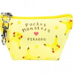 Japan Pokemon Triangular Mini Pouch - Pikachu