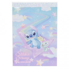 Japan Disney B8 Mini Notepad - Stitch & Stars