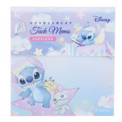 Japan Disney Sticky Memo - Stitch & Stars