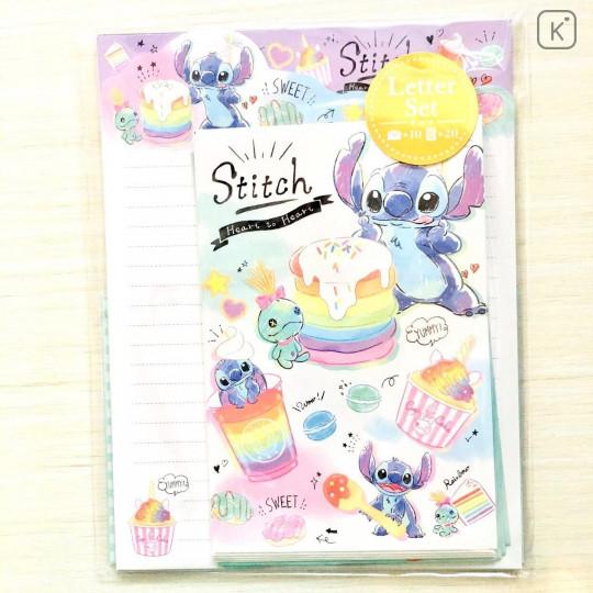Japan Disney Letter Envelope Set - Stitch Pop Sweets - 1