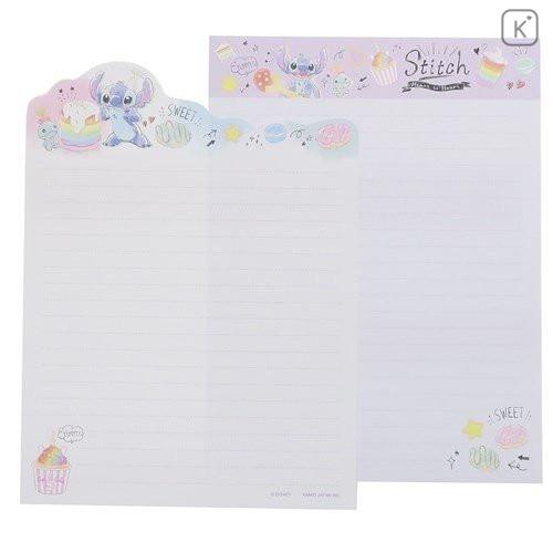 Japan Disney Letter Envelope Set - Stitch Pop Sweets - 2