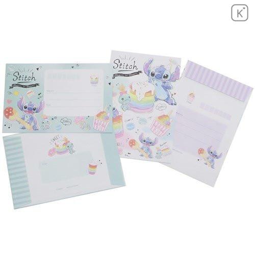 Japan Disney Letter Envelope Set - Stitch Pop Sweets - 3